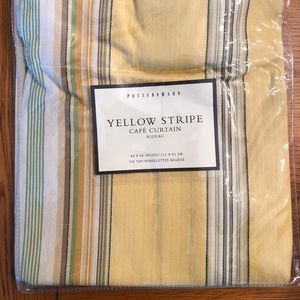 Pottery barn Yellow Stripe Cafe Curtains